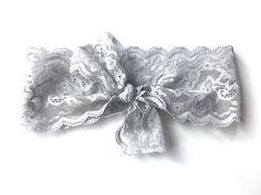 Lulu June Kara Lace Turban, Grey