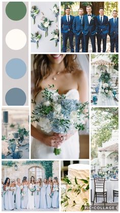 Ice Blue and Green Spring Wedding