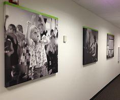 NewSpring, photos on canvas, commercial interior design, photo canvas, wallpaper murals