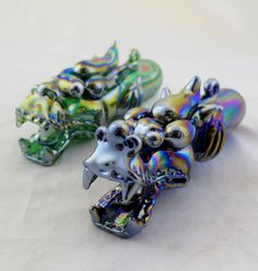 Hey, I found this really awesome Etsy listing at https://www.etsy.com/listing/113108043/iridescent-tribal-dragon-glass-tobacco