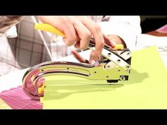"""▶ We R Memory Keepers Crop-A-Dile II, The Big Bite - YouTube  called the """"Big Bite"""" because of its 6 inch reach allowing crafters to reach anywhere on their 12x12 layouts or larger craft projects, it is unbelievably strong, durable The Big Bite,will punch 2 sizes of holes (3/8"""" & 3/16"""") through leather, thin tin, soft acrylic, balsa wood, chipboard, and multiple sheets of paper and cardstock! For more project videos check out our Idea Gallery http://www.weronthenet.com/Idea-Gallery"""