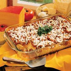 Four-Cheese Lasagna! (recipe)-- THE MORE CHEESE THE BETTER! :)
