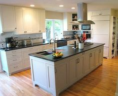 This kitchen has the smart design i 39 m looking for prep - Kitchen island with cooktop and prep sink ...