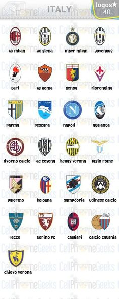 Level 5 – Logo Quiz Football Clubs Italy Answers 5 Logo, Level 5, Dan, Video Games, Italy, Football, Club, Logos, Videogames