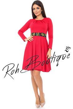 Rochie cu bentita in contrast - DR2674 Dresses For Work, Casual, Fashion, Moda, Fashion Styles, Fashion Illustrations