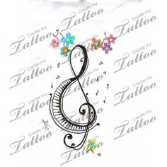 Marketplace Tattoo Beautiful Music #18854 | CreateMyTattoo.com
