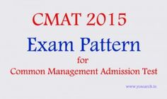 Looking for CMAT Test Pattern for 2015 examination. Visit Yosearch for CMAT 2015 Test Pattern, there are 4 sections in the test, online computer based test