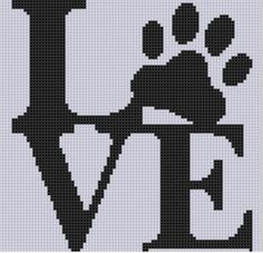 Love Paw Cross Stitch Pattern | Craftsy