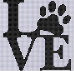 Love Paw Cross Stitch Pattern  | Craftsy