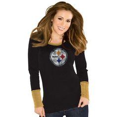 Pittsburgh Steelers Touch by Alyssa Milano Ladies Kari Thermal – Black Steelers T Shirts, Go Steelers, Pittsburgh Steelers, Steelers Apparel, Steelers Stuff, Steeler Nation, Alyssa Milano, Nfl, Sportswear