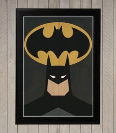 Batman  minimalistische Retro Poster Movie Poster door CultPoster