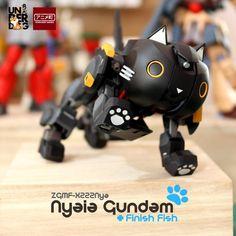 Custom Build: HG 1/144 ZGMF-X222Nya Nyaia Gundam + Finish Fish - Gundam Kits Collection News and Reviews