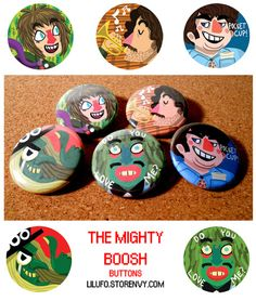 The Mighty Boosh Button Set from Lil' UFO