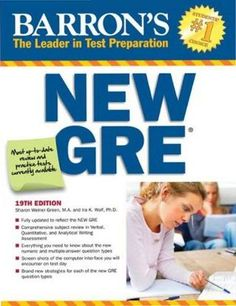 Barron's gre 19th edition