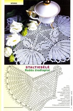 Doily with chart