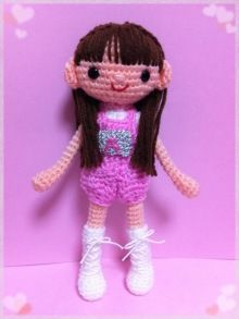 Sweet little crochet doll