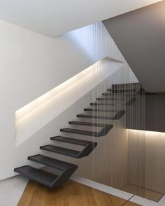 Unordinary Floating Stairs For Your Decoration This Year 45 New Staircase, Floating Staircase, Modern Staircase, Staircase Ideas, Staircases, Luxury Staircase, Staircase Storage, Glass Stairs Design, Home Stairs Design