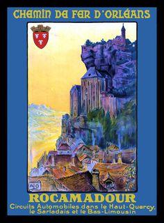 Chemin de Fer Orleans France Travel Poster by LABELSTONE on Etsy, $4.50