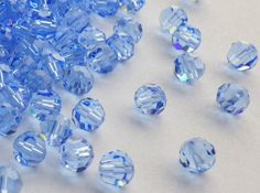 35 Vintage Swarovski Crystal Beads 5mm Light by CreationsByDevlin, $8.75