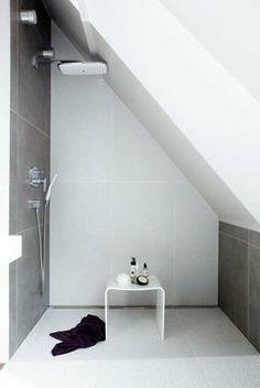 douche et baignoire agencement sympa une salle de bain dans les combles a bathroom. Black Bedroom Furniture Sets. Home Design Ideas