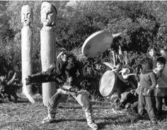 Koryak (Kamchatka) shaman dancing with drum | 1966