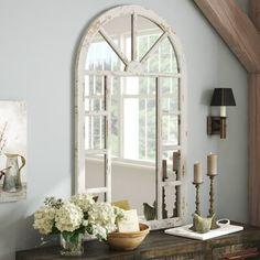 Birch Lane: Farmhouse & Traditional Furniture - Made to Last Window Mirror Decor, Arch Mirror, Mirror Panels, Round Wall Mirror, Wall Mirrors, Wall Décor, Wall Art, Traditional Windows, Faux Window