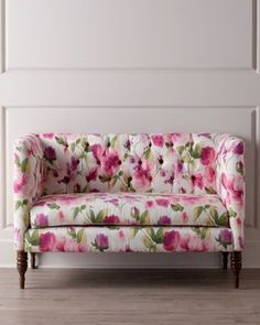 Love at first sight - this floral settee from @Horchow is so bright and happy! #home #decor #design