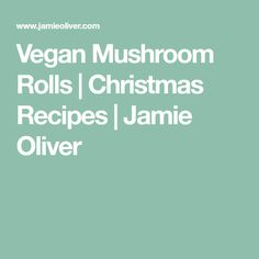Looking for some festive vegan pastry recipes? Look no further than Jamie's crispy vegan sausage rolls: they're sure to go down well at the Christmas party! Vegan Christmas, Christmas Recipes, Vegan Sausage Rolls, Vegan Pastries, Xmas Food, Vegetarian Cooking, Jamie Oliver, Vegan Dishes, Clean Eating Recipes
