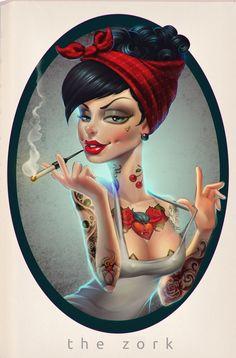 that tattoed girl by thezork.deviantart.com on @deviantART