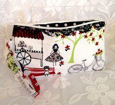 Fabric Clutch/Wristlet Waverly Paris by LizzyAndMeekoShop on Etsy