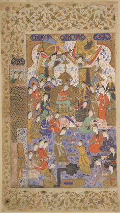 Arts of the Islamic World | Folio from a <i>Khamsa</i> (Quintet) by Nizami (d.1209); recto: Bilqis enthroned | S1986.287