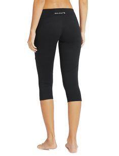 c9317633442f7 Baleaf Women's Yoga Workout Capris Leggings Side Pocket for 5.5' Mobile  Phone * You can