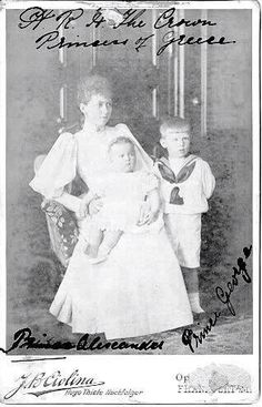 Crown Princess Sophie of Greece ( formerly of Prussia) with her children