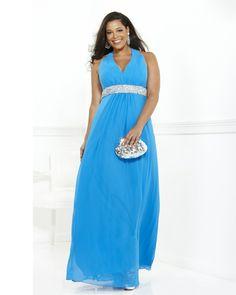 osell wholesale dropship Halter Floor Length Beading Chiffon Satin Pleated A Line Sleeveless Evening Prom Dress $64.37