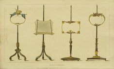 EKDuncan - My Fanciful Muse: Regency Furniture 1809 Ackermann's Repository Series 1 Vintage Furniture Design, Regency Furniture, Stair Landing, Artwork Display, Woman Drawing, Wall Decor, Fancy, Muse, Ceiling Lights