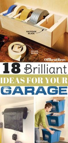 Garage organization ideas to get an organized garage. These garage ideas will help you organize your garage easily and fast. Check out these garage or. - Organized Home - Garage Workshop Garage Organisation, Diy Garage Storage, Shed Storage, Organization Hacks, Organized Garage, Organizing A Garage, How To Organize Garage, Wood Shop Organization, Organizing Ideas