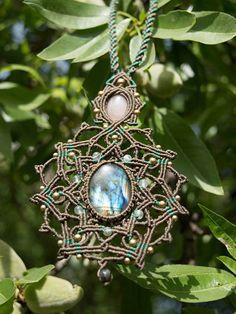 Macrame Micromacrame Earth Flower Mandala by ArnasaCreations