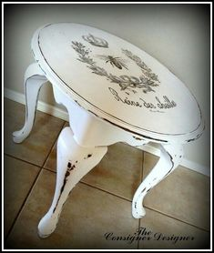 I just may try this on one of our family room end tables...stay tuned.
