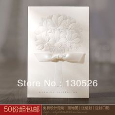 Embossed printable wedding invitation cards with Lily envelope,Birthday Invitation Business invitation card 10PCS/lot