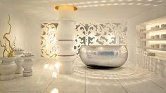 Mondrian South Beach by Marcel Wanders - Dezeen Design Hotel, Lobby Design, Spa Design, Beach Design, Design Ideas, Mondrian Hotel Miami, Spa Reception, Reception Areas, Boutique Spa