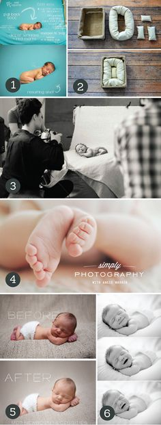 Amazing Newborn Photography Tips and Tricks : be careful, if it looks photoshopped, it is! Be safe with your baby! No shot on a swong or in a boot is actually taken the way it looks. Don't take chances!