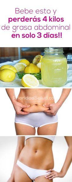 Bebe esto y perderás 4 kilos de grasa abdominal en tan solo 3 días.