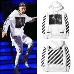 Justin Bieber Outfits, Justin Bieber Style, Top Streetwear, Streetwear Fashion, Off White Hoodie Men, Swag Outfits, Cool Outfits, Off White Fashion, Nasa Clothes