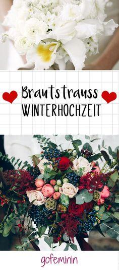 Zu einer perfekten Winterhochzeit gehört auch der passende Brautstrauß. Wir stellen euch die schönsten Variationen für den Winter vor.