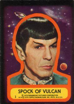 Star Trek: Topps Trading Card Sticker - Spock of Vulcan