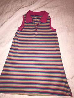 Girls Size 6 Dress By J. Khaki Colorful Stripes Sleeveless Knee Length #JKhaki #Dress #Everyday