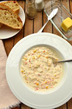 Creamy, Rich, Delicious Smoked Trout Chowder | Made with Cream, White Wine - Use Your Favorite Smoked Fish | www.craftycookingmama.com