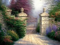 Thomas Kinkade The Open Gate oil painting reproductions for sale