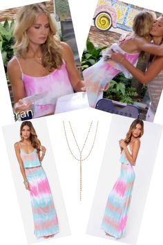 Cameran Eubanks' Tie Dye Dress is Only $26 (before you all buy them all anyways ;-) ) DETAILS: http://www.bigblondehair.com/reality-tv/cameran-eubanks-pink-blue-orange-tie-dye-maxi-dress/ Southern Charm Season 4 Episode 2 Fashion