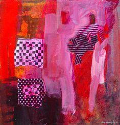 Robert Burridge Studio • The Magic Circus Abstract Format, Abstract Art, Acrylic Artwork, Landscape Artwork, Expressive Art, Figure Painting, Art Tutorials, Painting Inspiration, Collage Art
